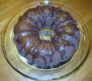 Chocolate-Cinnamon Bundt Cake with Mocha Icing