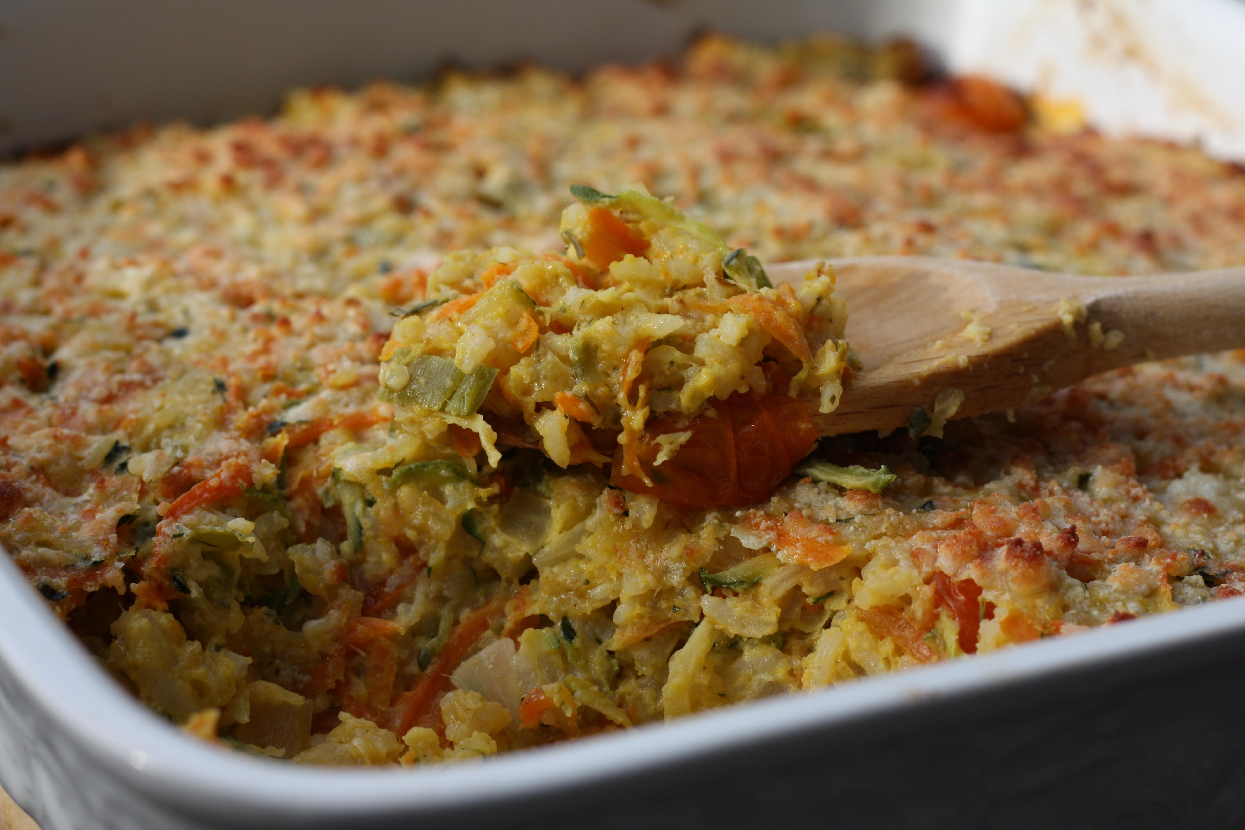 Garden-Rice Casserole   First Look, Then Cook
