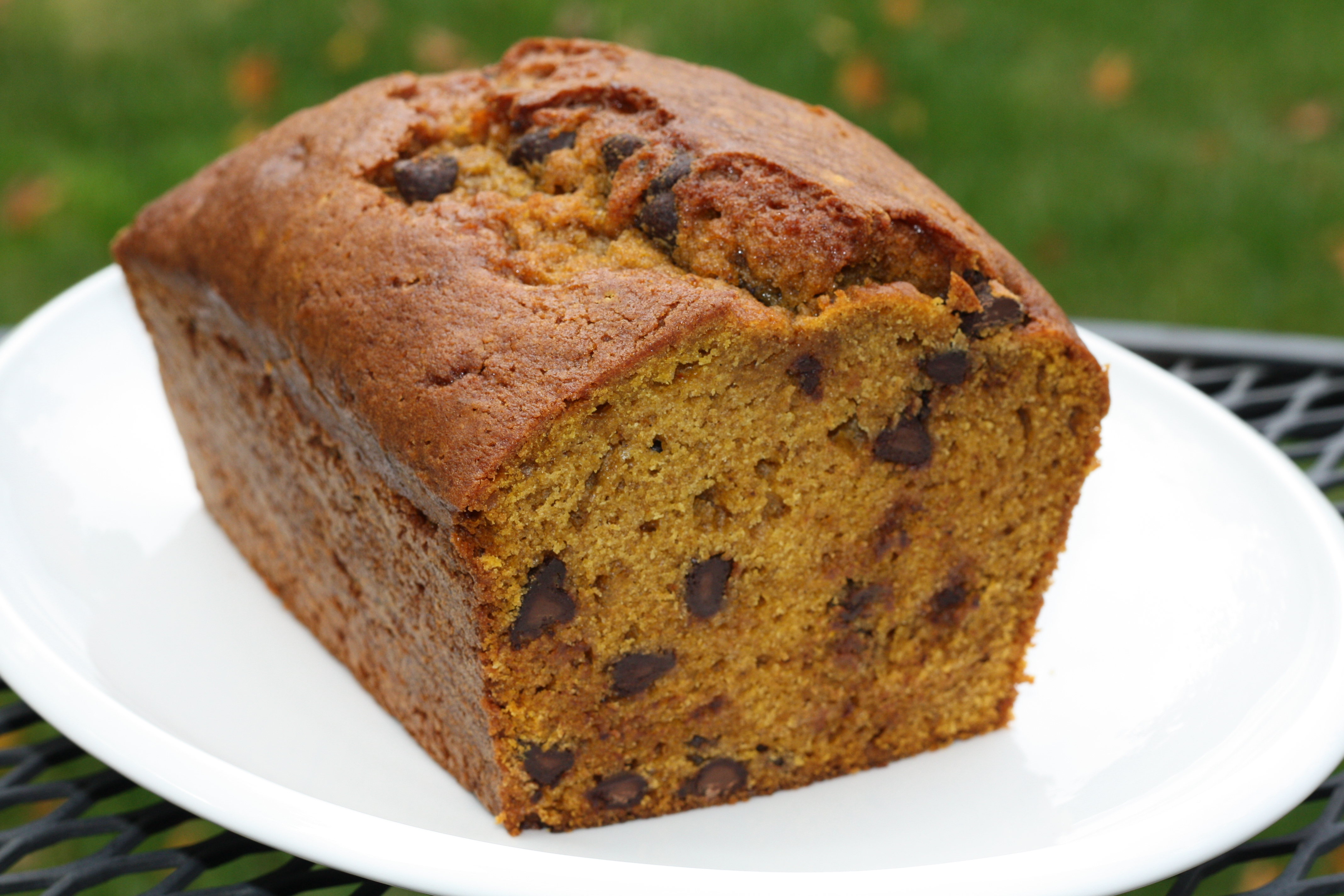 Pumpkin Chocolate Chip Bread – First Look, Then Cook