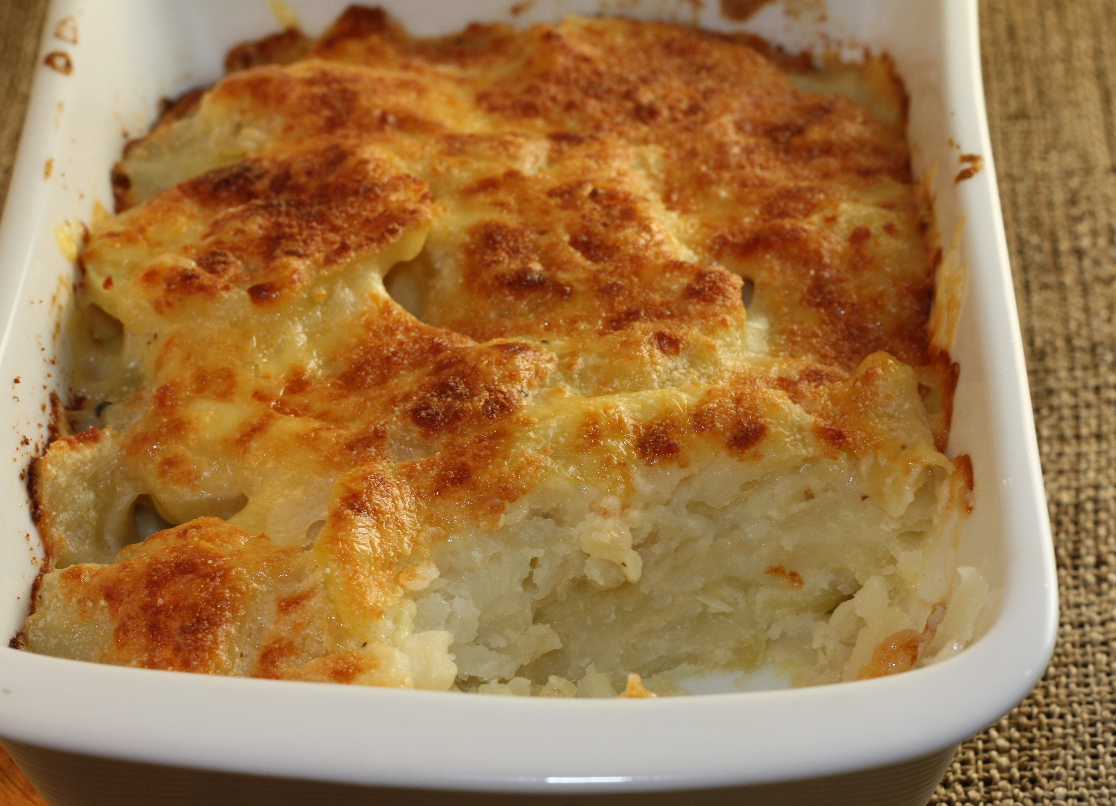 mashed potato gratin cod leek and potato gratin potato leek gratin ...