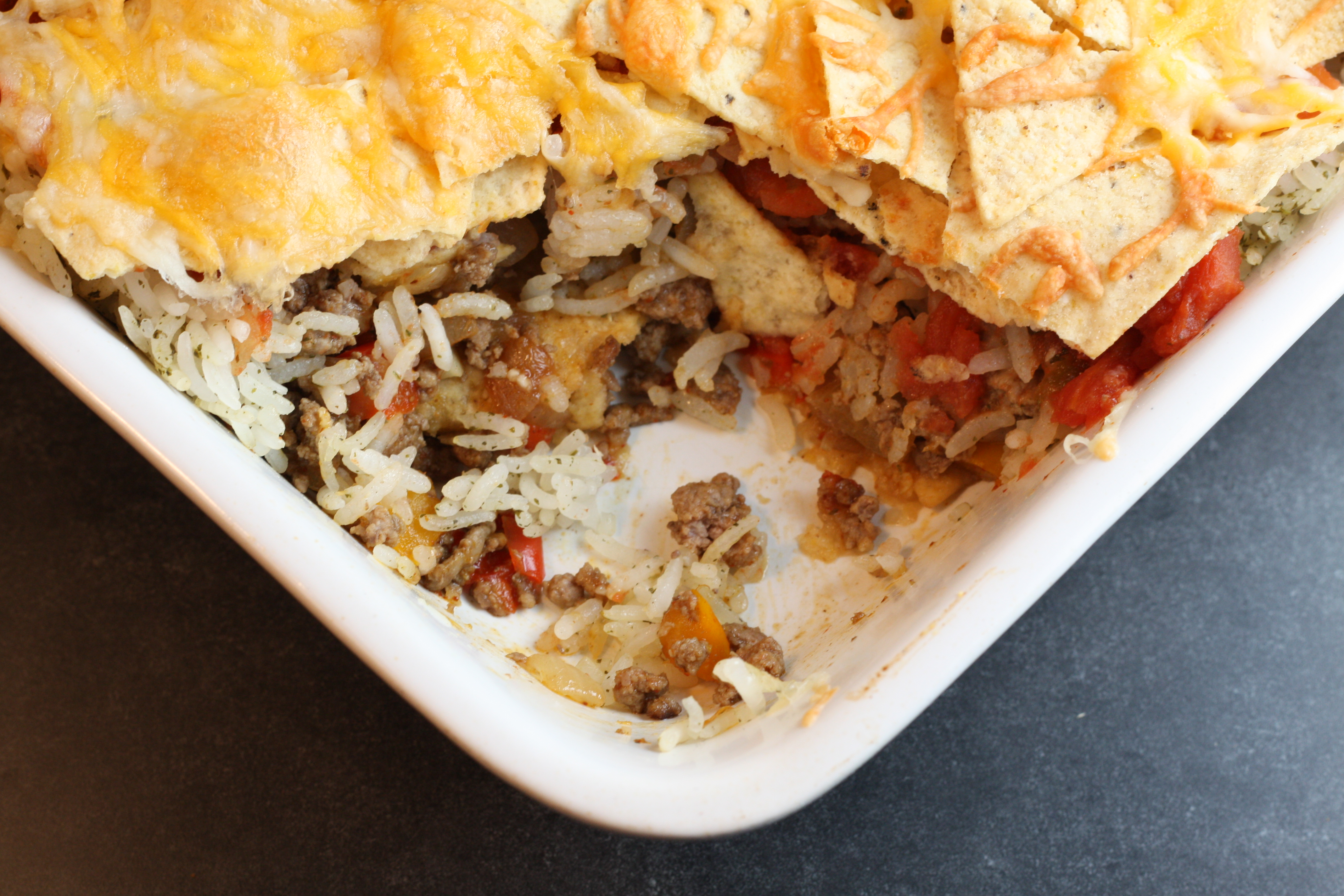 Mexican Casserole with tortilla chips | First Look, Then Cook