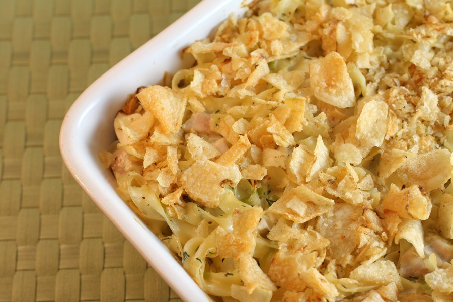 Chicken Noodle Casserole with Leeks and Fresh Dill | First Look, Then ...