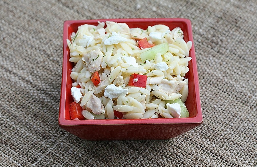 Lemony Orzo – Veggie Salad with Chicken | First Look, Then Cook
