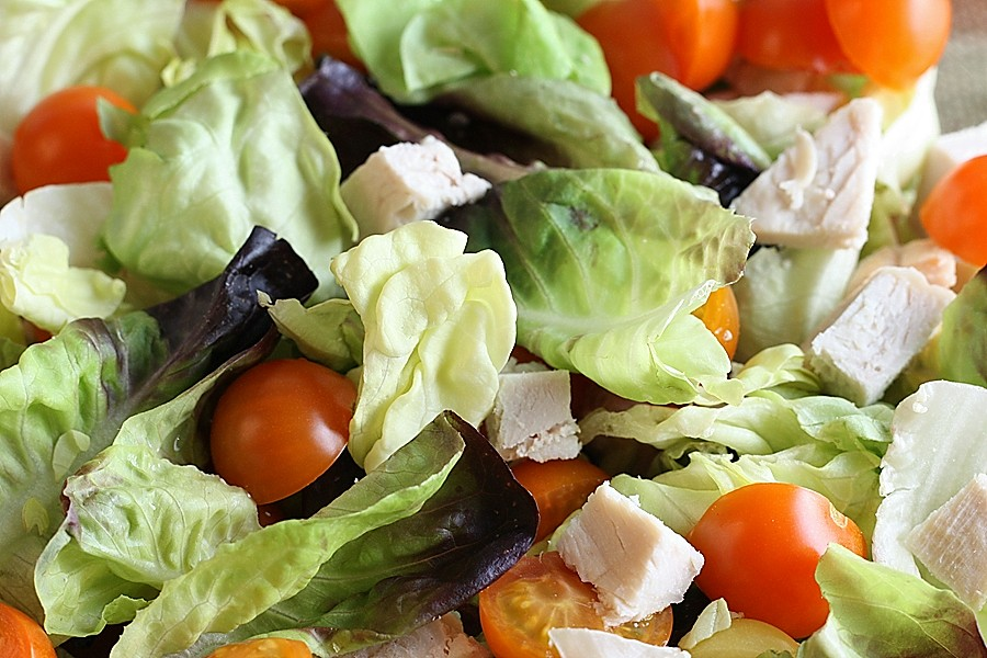 Turkey and Tomato Salad with Avocado Dressing – First Look, Then Cook