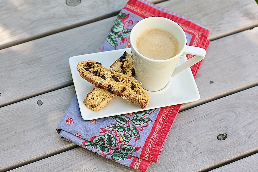 Pistachio and Dried-Cherry Biscotti | First Look, Then Cook
