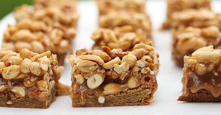Butterscotch Blondie Bars with Peanut-Pretzel Caramel – First Look ...