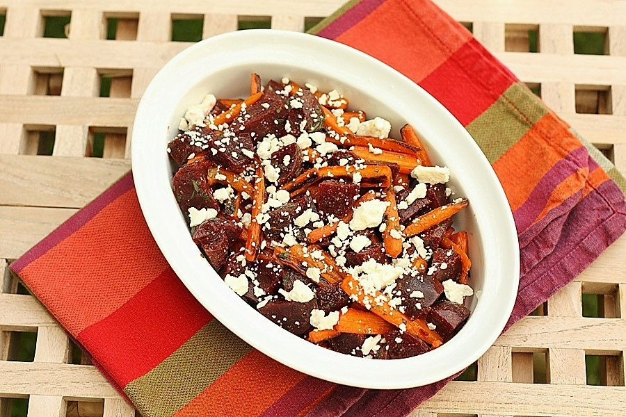 Roasted Carrot and Beet Salad with Feta