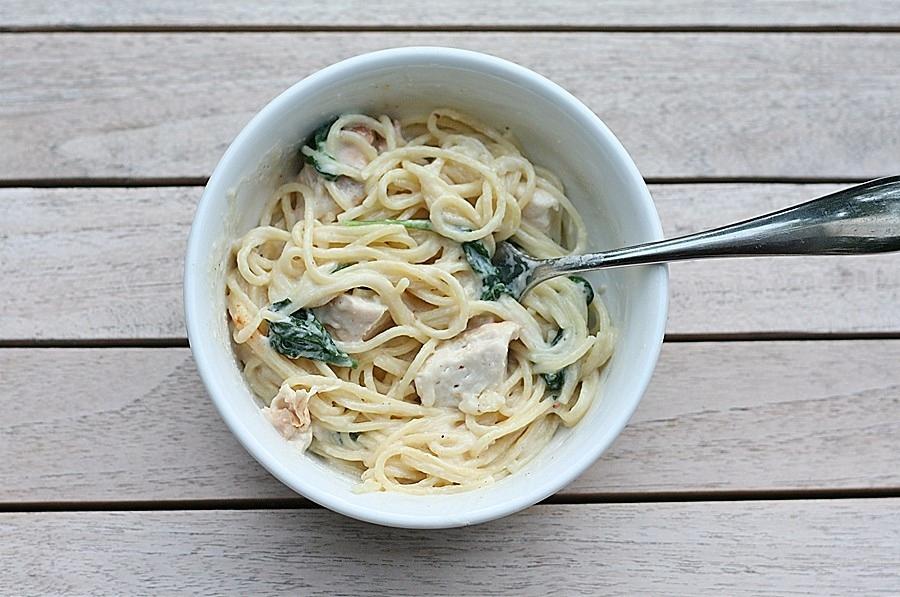 Grilled Chicken Florentine Pasta | First Look, Then Cook