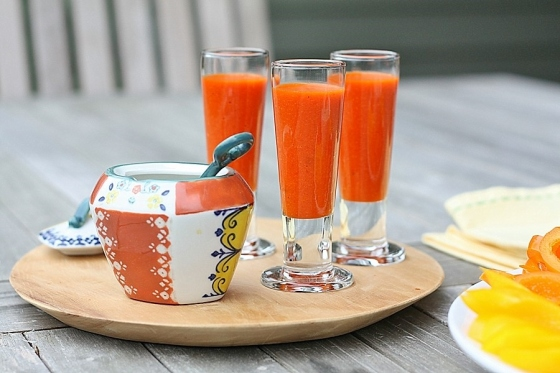 Red Pepper Soup Shots