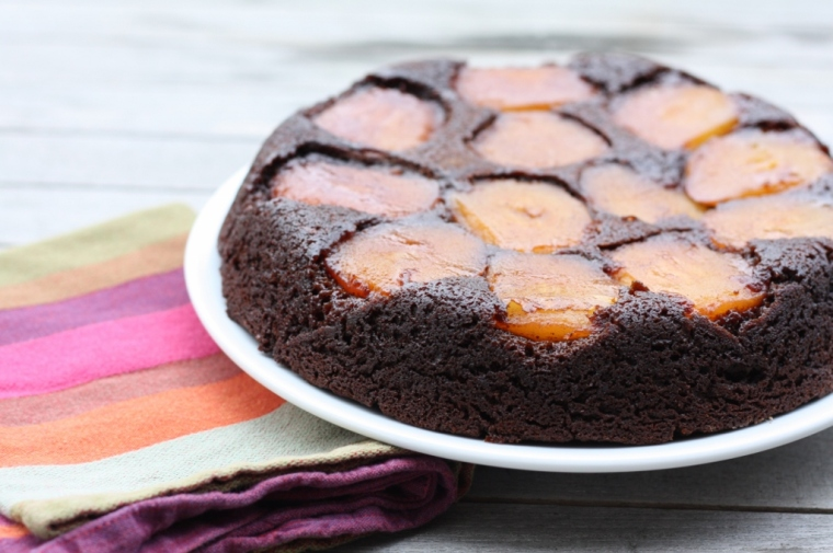 Apple Mollases Upside Down Cake