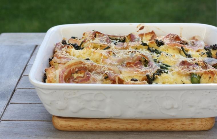 Parmesan Bread Pudding