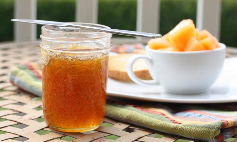 Cantaloupe Jam with Vanilla