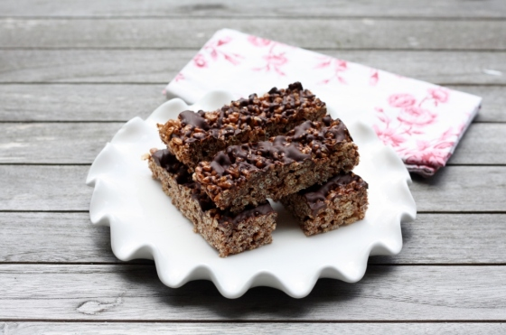 Chocolate-Espresso Rice Krispie Bars