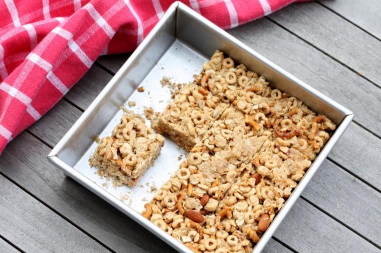 Peanut Almond Snack Bars