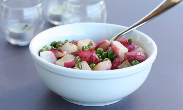 Sauteed Radishes with Peas and Mint