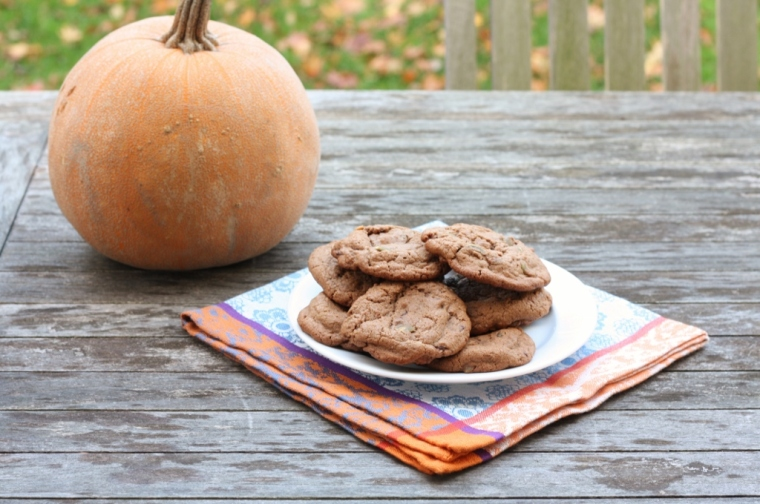 Chocolate Chunk-Pumpkin Seed Cookies
